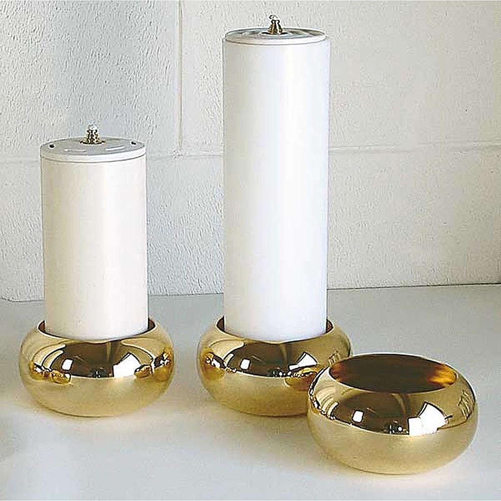 Portacandela ottone dorato lucido 4