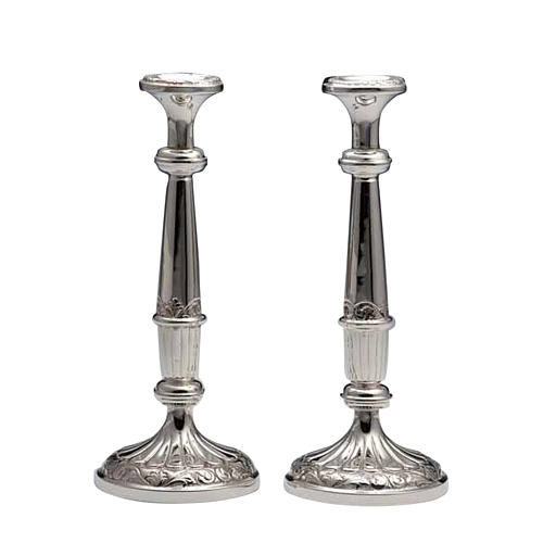 Pair of Silver 800 Candlesticks 1