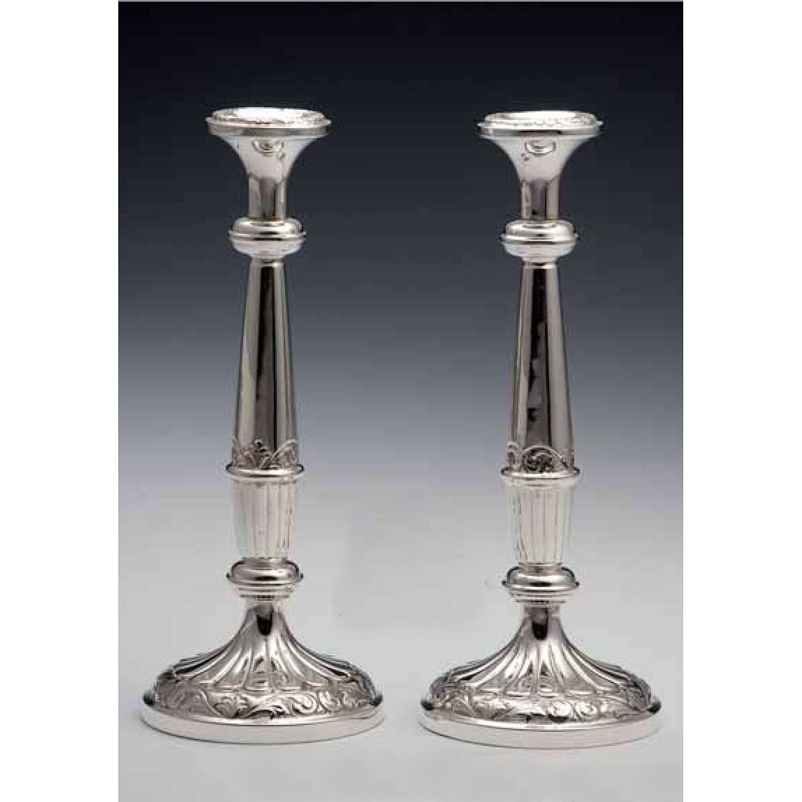 Pair of Silver 800 Candlesticks 4