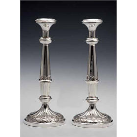 Pair of Silver 800 Candlesticks s1