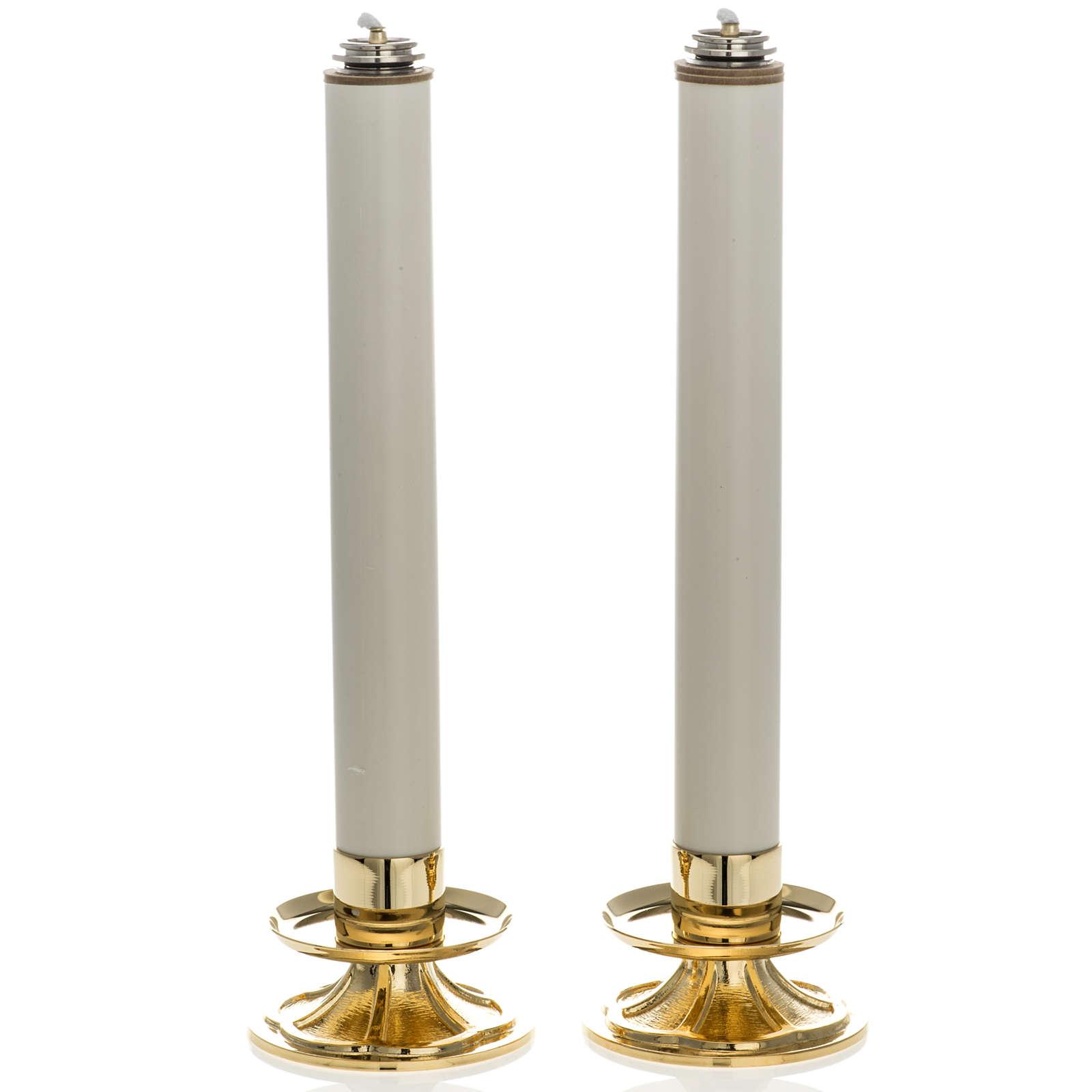 Coppia Candelieri con finte candele 4