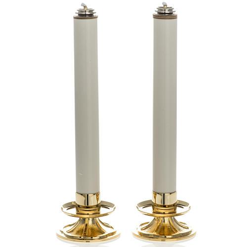 Coppia Candelieri con finte candele 1