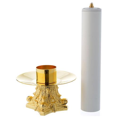 Coppia portacandele e candele pvc 2