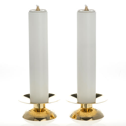 Candle holders and fake candles, two piece set 1