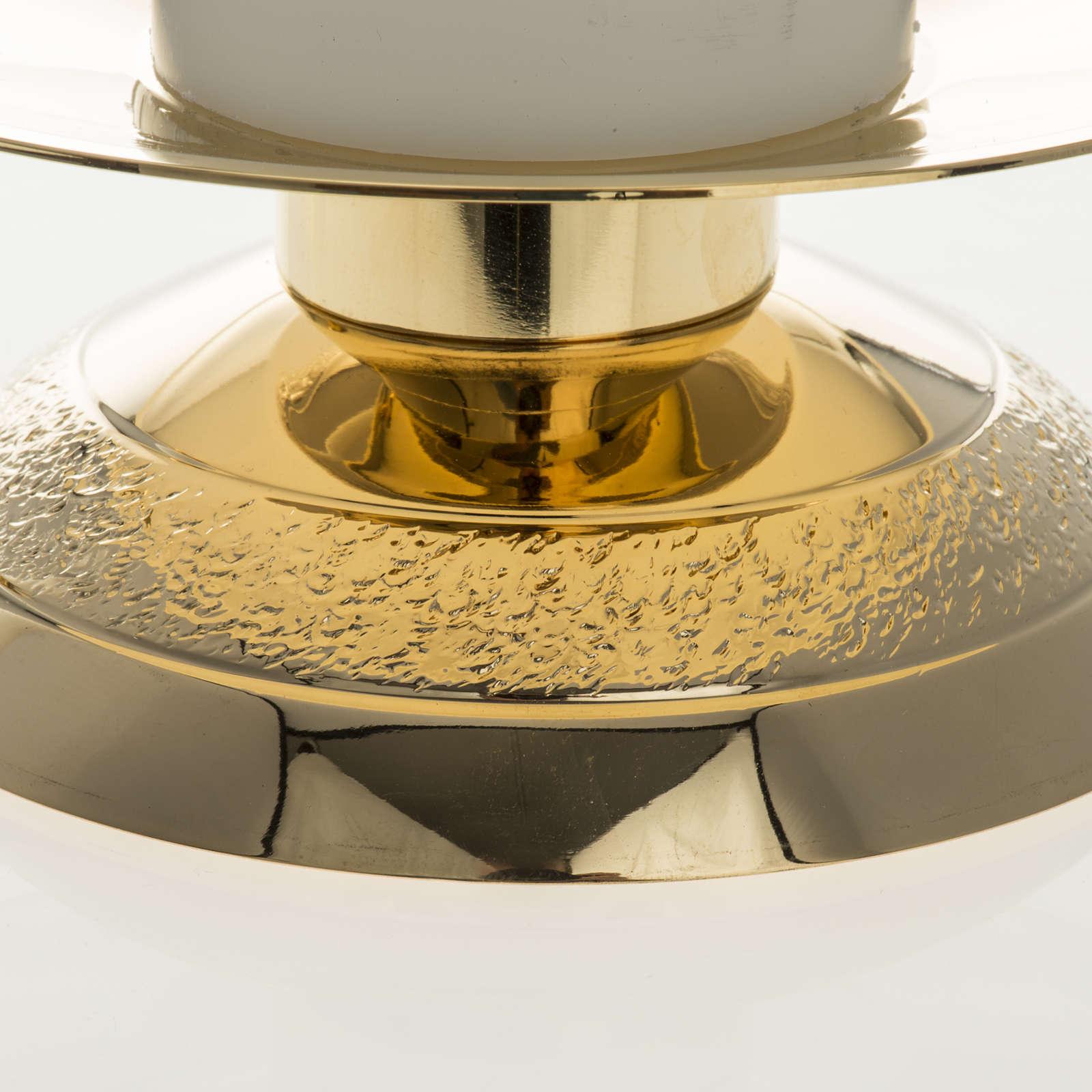 Candelabros con vela falsa 2 piezas base moderna 4