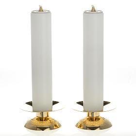 Candelabros con vela falsa 2 piezas base moderna s1