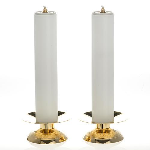 Candelabros con vela falsa 2 piezas base moderna 1