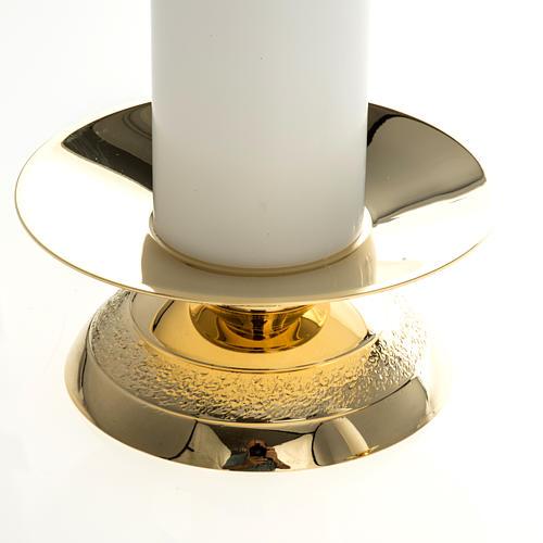 Candelabros con vela falsa 2 piezas base moderna 2