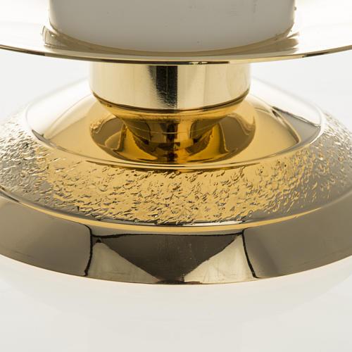 Candelabros con vela falsa 2 piezas base moderna 3