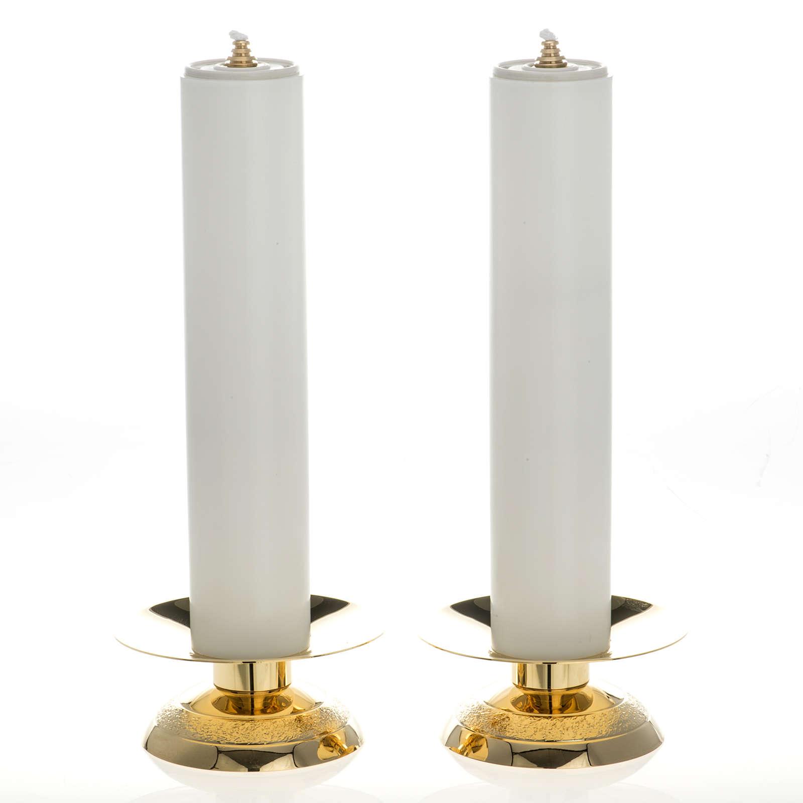 Castiçais e velas falsas 2 peças 4