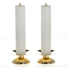Castiçais e velas falsas 2 peças s1