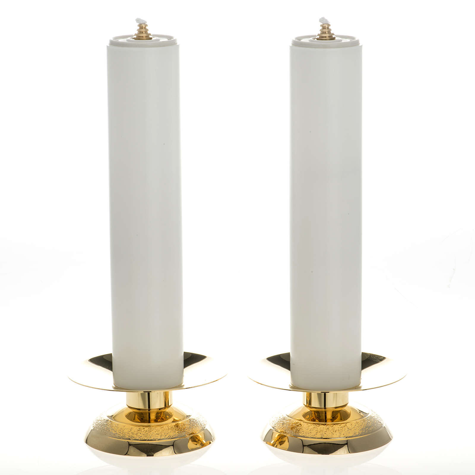 Candle holders and fake candles, two piece set 4