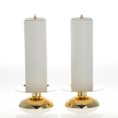 Candles and candle holders, two piece set 1