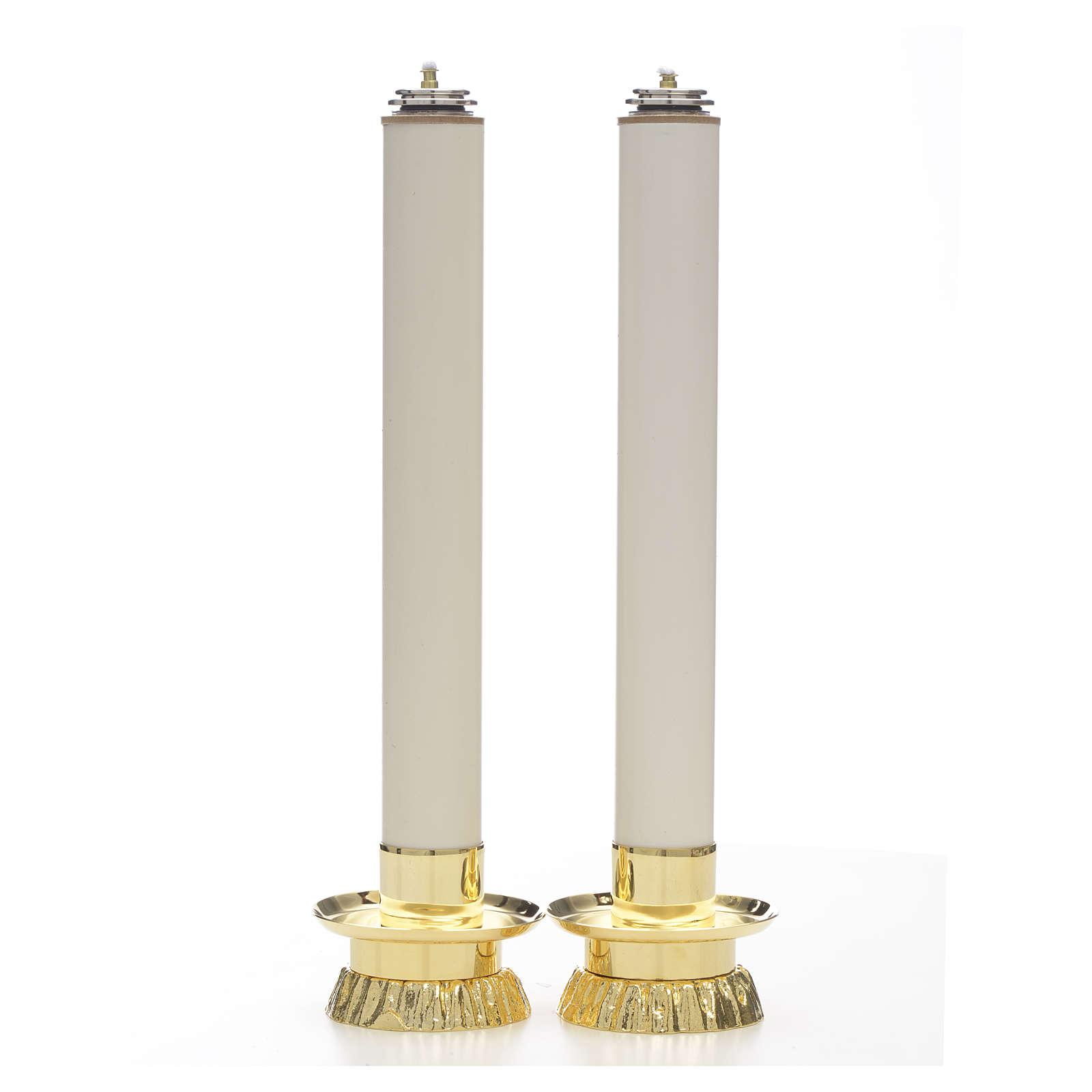 Completo 2 pezzi candelieri e finte candele 4