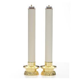 Completo 2 pezzi candelieri e finte candele s1