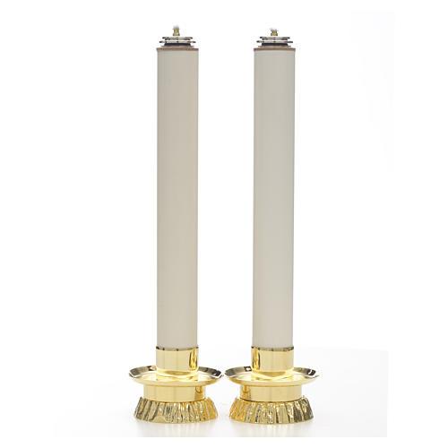 Completo 2 pezzi candelieri e finte candele 1