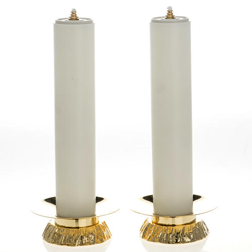 Candle set with fake candles and candle holders 1