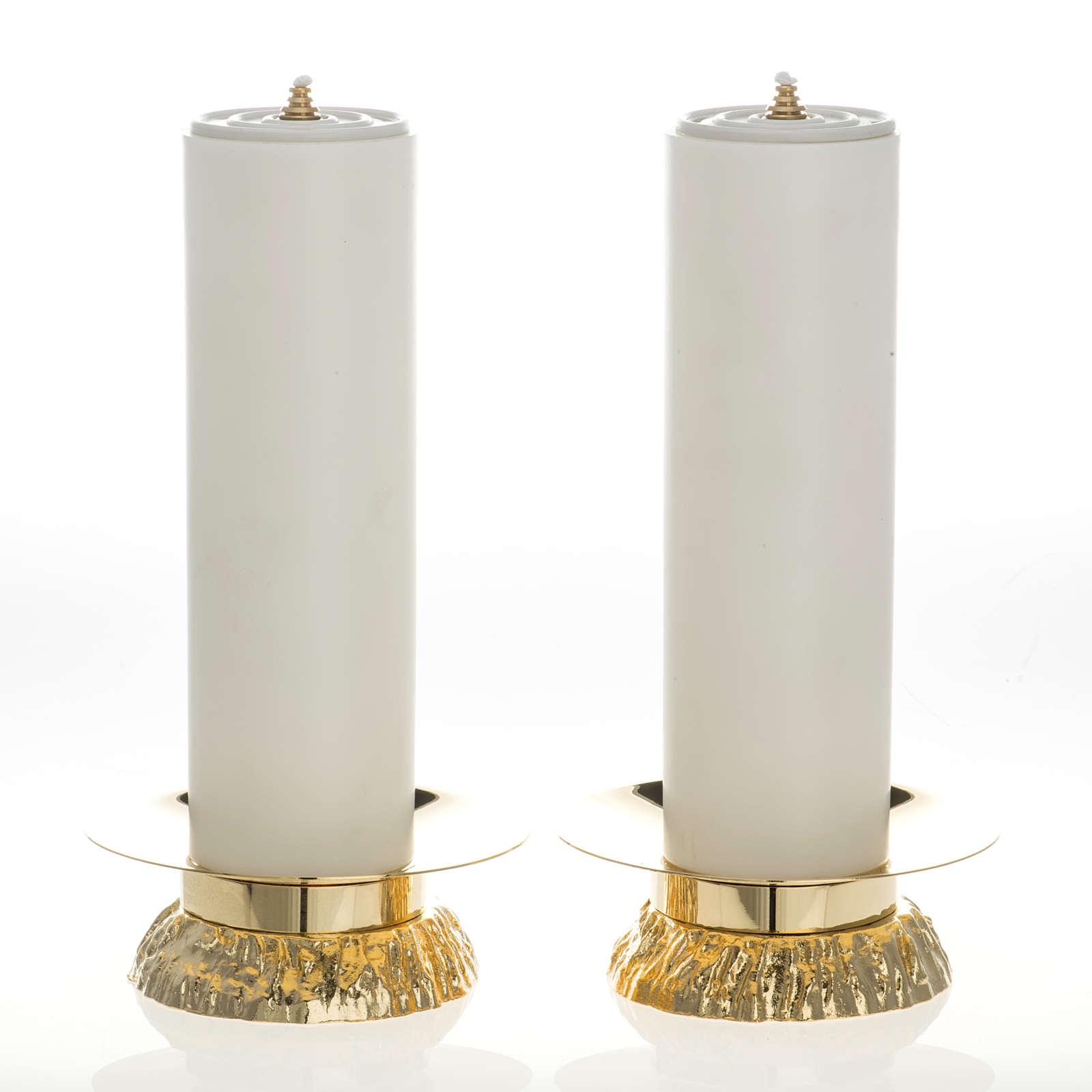 Completo 2 pz finte candele e candelieri 4