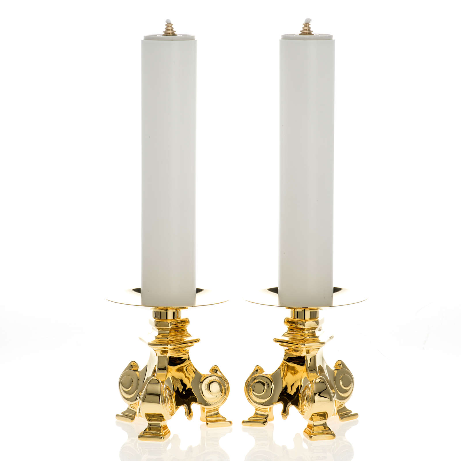 Candelieri ottone e finte candele 4