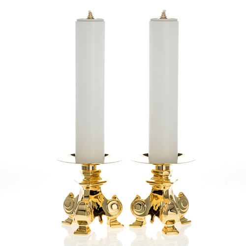 Candelieri ottone e finte candele 1