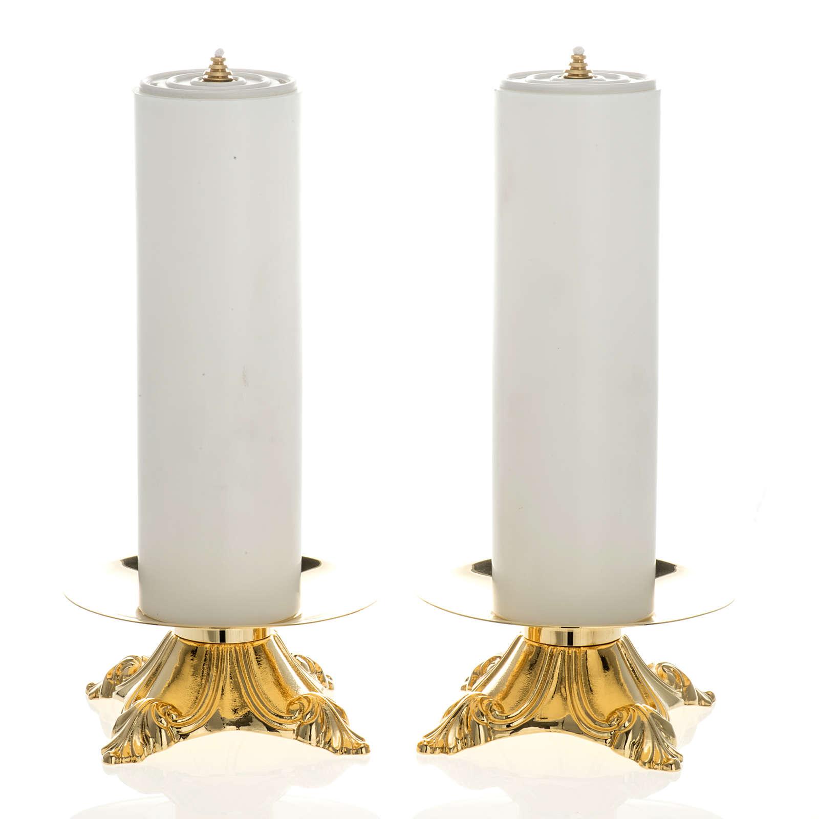 Candelieri con finte candele 2 pezzi 4