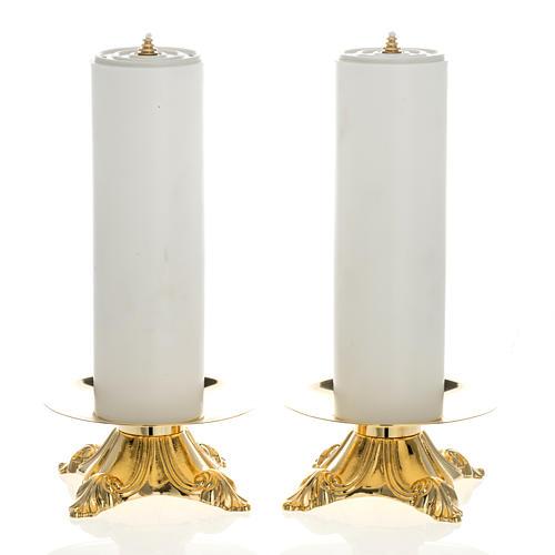 Candelieri con finte candele 2 pezzi 1