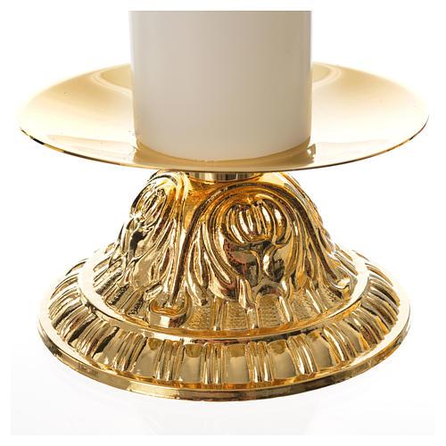 Candelabros dos piezas vela falsa base tipo campana 2