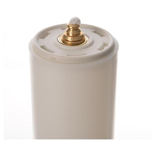 Candelabros dos piezas vela falsa base tipo campana 3