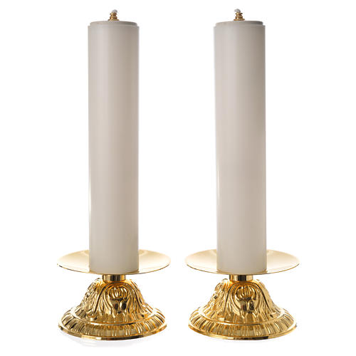 Candle holders with fake candles, 2pcs 1