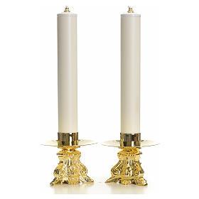 Set completo candelieri barocco e candele s1