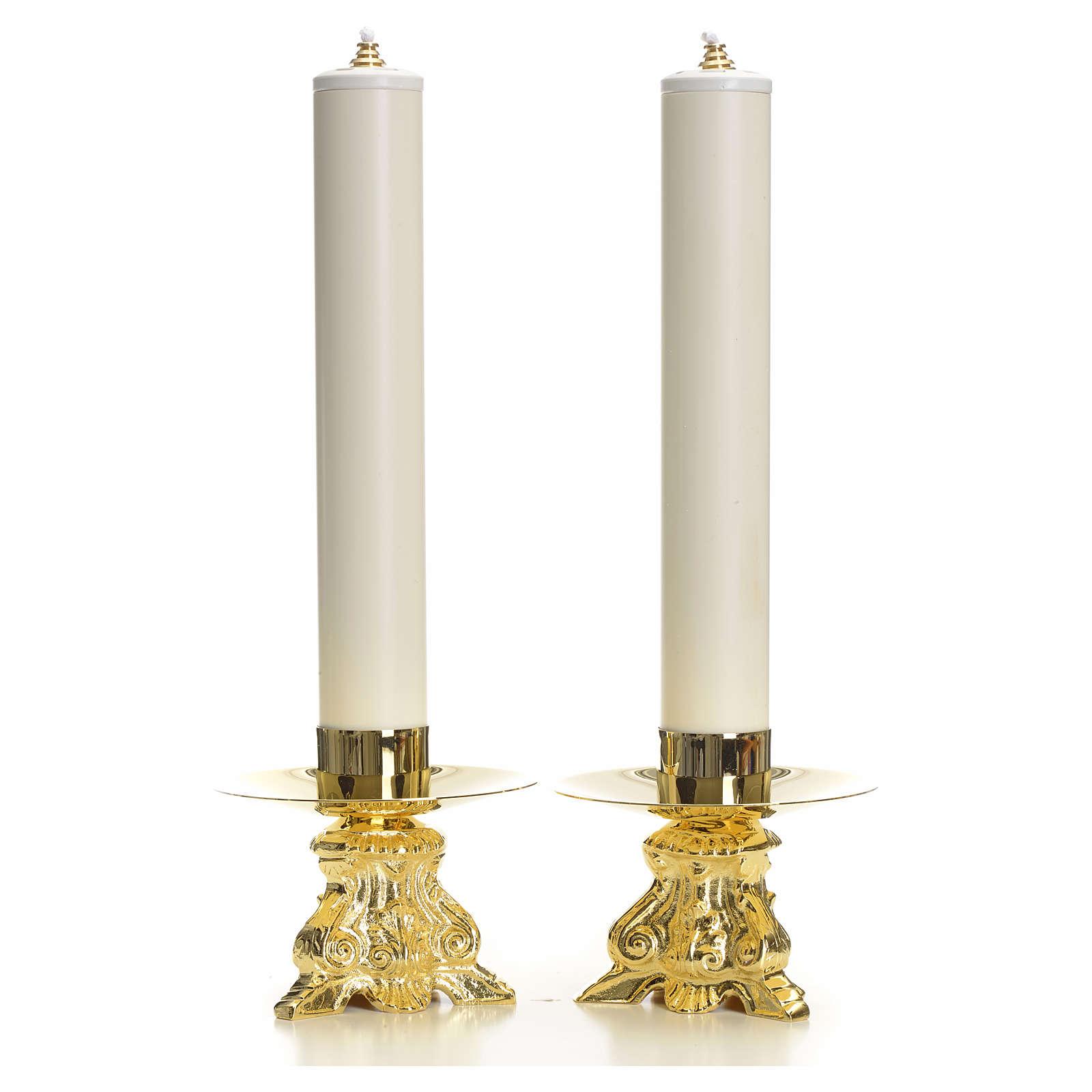 Jogo completo castiçais barrocos e velas 4