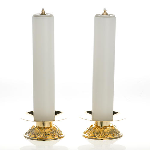 Altar set with candle holders and candles 1