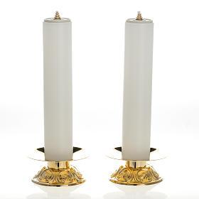 Chandeliers laiton avec bougies à cire liquide lot 2 pcs s1