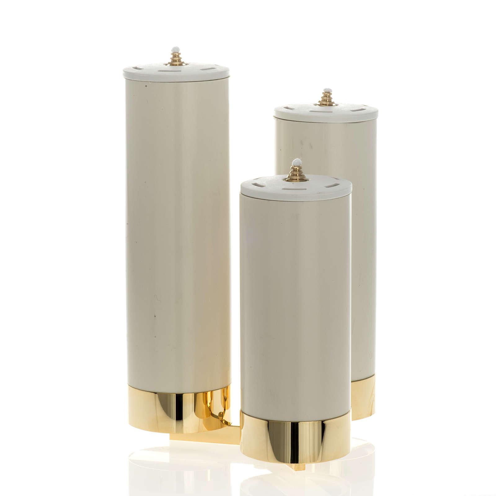 Candeliere 3 fiamme con finte candele 4