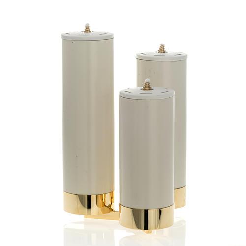 Candeliere 3 fiamme con finte candele 2