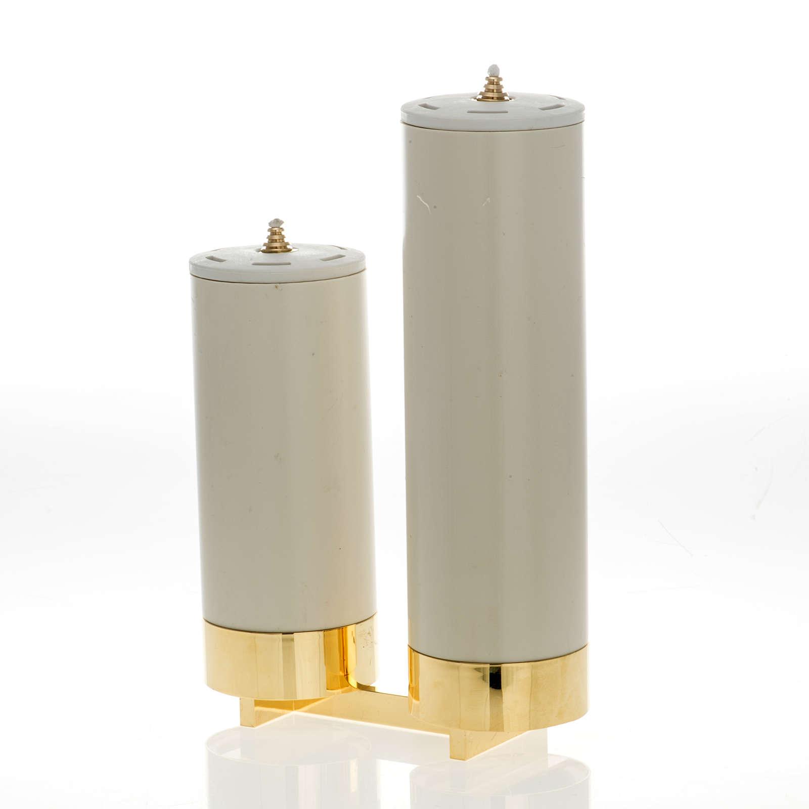 Candeliere 2 fiamme con finte candele 4