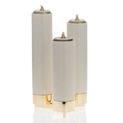 Castiçal 3 bocais completo de velas pvc 1