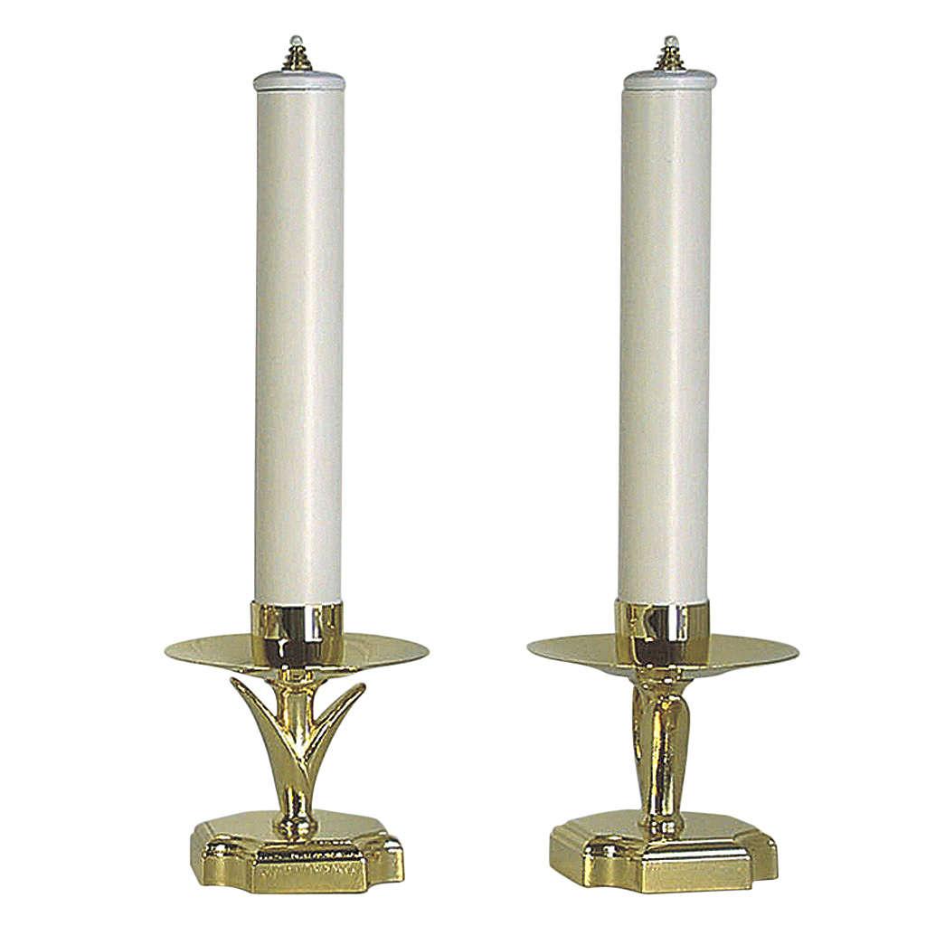 Chandeliers d'autel avec faux bougies et cartouches 4