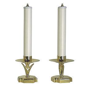 Chandeliers d'autel avec faux bougies et cartouches s1