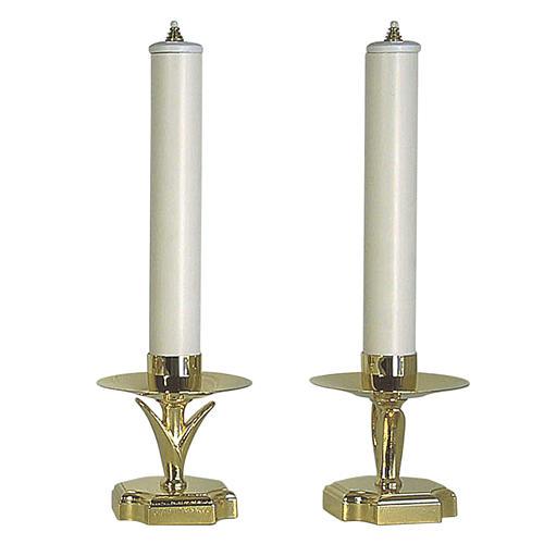 Chandeliers d'autel avec faux bougies et cartouches 1