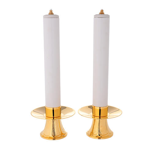 Candle holders and fake candles, set of 2 pieces 1