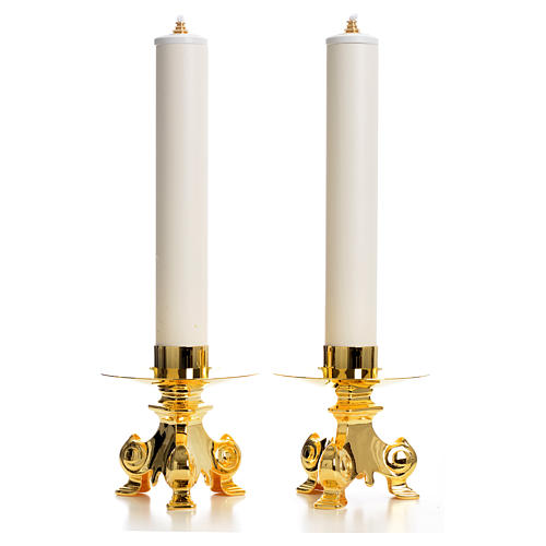 Candle holders and fake PVC candles 1