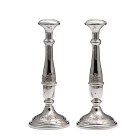 Pareja de candelabros de plata 800 s1