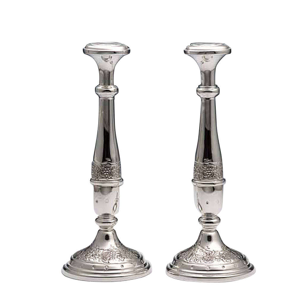 Pair of Candle holders in silver 800 4