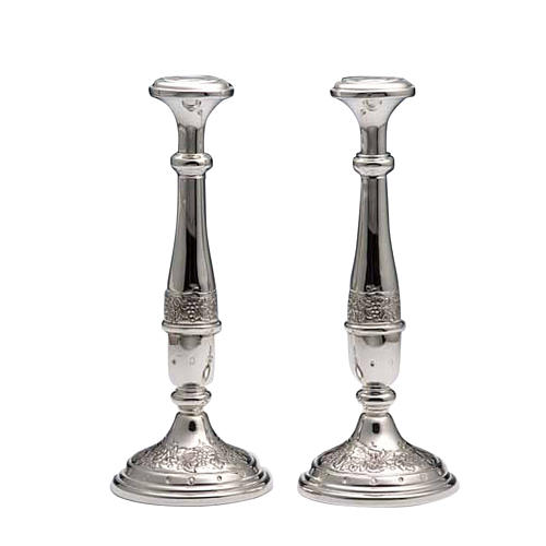 Pair of Candle holders in silver 800 1