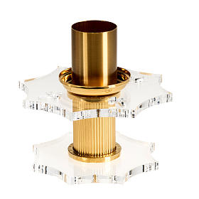 Candlestick in brass and plexiglas s1