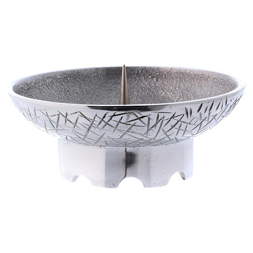 Altar candle holder in brass, Molina 2