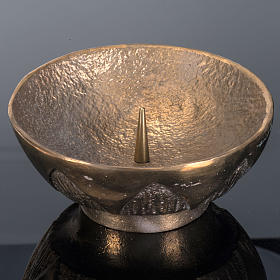 Altar candle holder in cast brass, Molina s4