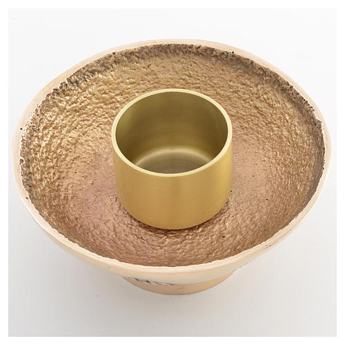 Altar candle holder in cast brass, Molina 3