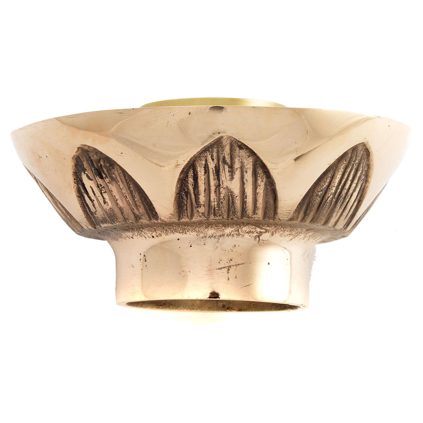 Portacandela da mensa Molina bronzo fuso 4